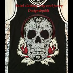 Jersey Fatal clothing cool shirt man or woman Very cool jersey,maker is fatal clothing,size is marked XL but I would say a large. NWOT was purchased and was to small. Last two pic are of the back  Fatal clothing Tops Tank Tops