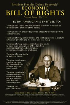 Postcard - Franklin Delano Roosevelt& Economic Bill Of Rights Fdr Quotes, Political Quotes, President Quotes, Political Leaders, Franklin Roosevelt, Roosevelt Family, Economic Justice, Social Justice, Thoughts