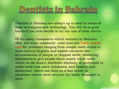 dentists in bahrain @ http://bahraindoctors.com/