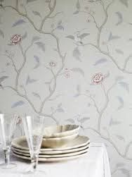 Картинки по запросу sandberg marianne wallpaper Dining Room Wallpaper, Bathroom Wallpaper, Designers Guild, Little Birds, William Morris, Small Rooms, Sweet Home, Colours, Display