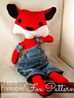 FREE Printable Fox Softie