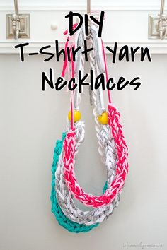 How to make a Finger Knit Necklace // Tutorial by InfarrantlyCreative.Net on Blog.Joann.com