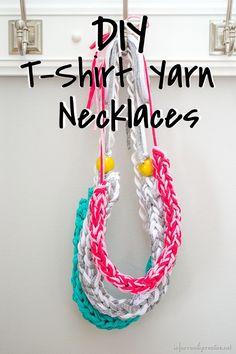 How to make a Finger Knit Necklace // Tutorial by InfarrantlyCreative.Net on Blog.Joann.com