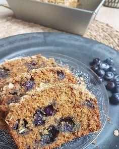 Crumble cake aux myrtilles vegan