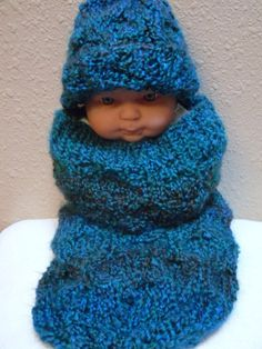 Baby Cocoon Bunting & Hat Set and Photography by KnottyKnitterShop