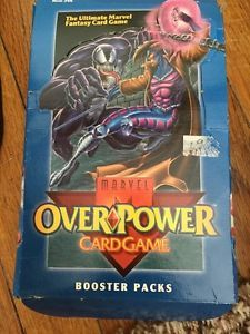 Marvel Overpower Card Game Trading Cards Booster Packs SEALED Lot of 24 | eBay