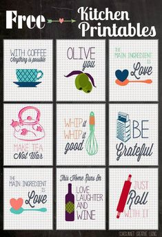 The Greatest (Free) Kitchen Printables. *** See more by checking out the picture