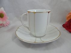 1930s Vintage KL Germany White and Gold by SecondWindShop on Etsy, $12.00