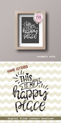 This is my happy place, sweet home decor quote saying digital cut files, SVG, DXF, studio3 for cricut, silhouette cameo, diy vinyl decals by LoveRiaCharlotte on Etsy