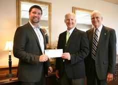 Great visit with the folks of Appalachian Electric Cooperative in New Market yesterday on October 11th at their meeting and being able to tour their operations. I'm very grateful to have the support of the Tennessee Electric Cooperative Association for the 17th House District campaign.      (Pictured for TECA donation, left to righ: Andrew Farmer, Mr. Greg Williams of AEC and Mr. Drinnon of AEC)