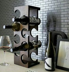 Brandy and Wine. Looking To Enjoy Your Wine More? Are you seeking greater knowledge about wine? Perhaps you would like to wow one of your friends with your knowledge. Wine Shelves, Wine Storage, Kitchen Storage, Wine Rack Design, Home Bar Accessories, Rustic Wine Racks, Modern Wine Rack, Modern Bar, Bois Diy