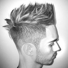 nice 60 Breezy Styles For Spiky Hair - Show Your Trend Mens Hairstyles With Beard, Hipster Hairstyles, Hairstyles Haircuts, Haircuts For Men, Cool Hairstyles, Short Haircuts, Fohawk Haircut, Medium Hair Styles, Short Hair Styles