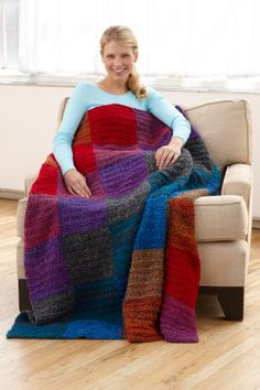 Homespun with Love: The Sunset Throw