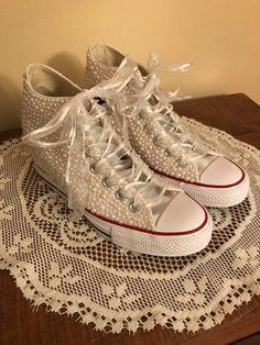 655a7baf2f06 Bridal Wedding Converse Wedge Sneakers