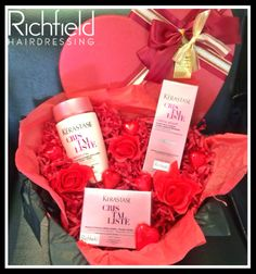 It's competition time!!!!!!! To celebrate the month of romance we are giving away this gorgeous Kerastase gift pack (valued at $160)   To enter all you need to do is visit www.facebook.com/richfieldhairdressing leave a comment telling us one thing you ♥♥ LOVE ♥♥ about your hair...... Good luck ♥x ♥x