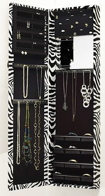 Black Over The Door Mirrored Jewelry Armoire | Products, The Ou0027jays And  Jewelry