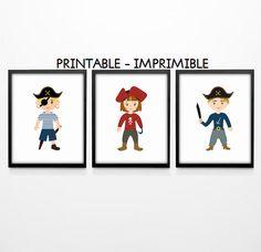 Ilustracion piratas, laminas piratas, piratas infantiles, cuadro piratas, set ilustraciones, laminas A4, laminas A3, laminas infantiles