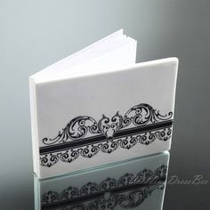Elegant Rose Designed Photo Cover Wedding Gusetbook,
