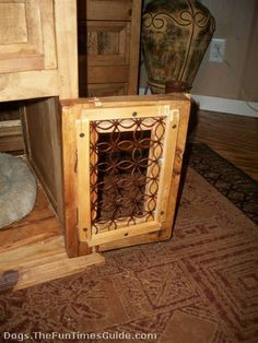 How to build dog crate coffee table or end table