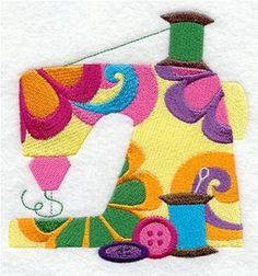 Machine Embroidery Designs at Embroidery Library! - 1970s Fashion - sew seventies idea - sewing machine