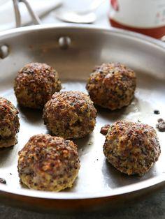 Pork Quinoa Meatballs | completelydelicious.com