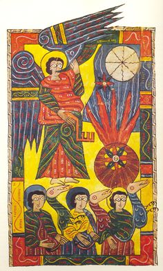 """""""The Escorial Beatus is a 10th century illuminated manuscript of the Commentary on the Apocalypse by Beatus of Liébana"""""""