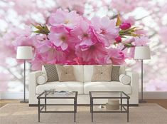 Floral PHOTO WALLPAPER Tree Cherry Blossom MURAL WALL ART