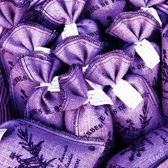 PURPLE lavander sack bags