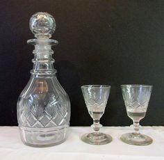 Pittsburgh Decanter and 2 Wines - Queen Street Antiques Mall