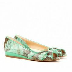 Nadine peep toe flat in mint by sole society  from ILoveCuteShoes.com