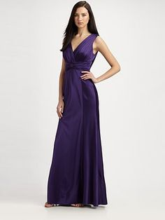 Kay Unger  Silk Gown...royal purple love