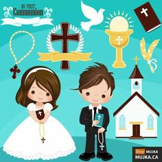 Today is the last day of my sale for all cliparts, printables & Characters! Get off today at my MUJKA ETSY STORE First Holy Communion, Paper Piecing, Kids Learning, Cute Pictures, Clip Art, Kawaii, Printables, Cartoon, Party