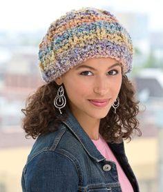 Soft Pastel Knit Hat Knitting Pattern | Red Heart