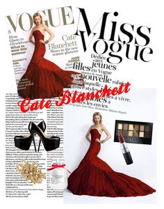 """Cate Blanchett"" by sara-bandiera on Polyvore featuring Oscar de la Renta, Maybelline, MAC Cosmetics and Victoria's Secret"