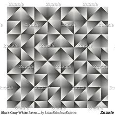 Black Gray White Retro Chic Geometric Squares Fabric Bohemian Fabric, Sewing Projects, Diy Projects, Black And Grey, Gray, Fabric Squares, Retro Chic, Consumer Products