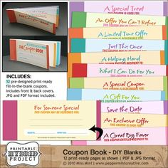 Digital Printable Coupon Books