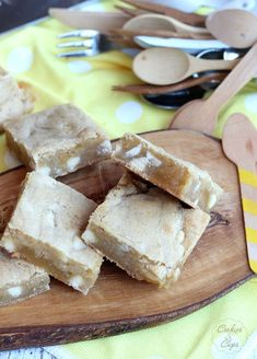 White Chocolate Lemon Blondies