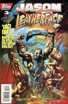 Jason vs. Leatherface / 3 cover / 1995 (Simon Bisley)
