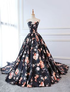 Quinceanera Dresses Floral Print Dark Navy Satin Strapless Sweetheart Women Page. - - Quinceanera Dresses Floral Print Dark Navy Satin Strapless Sweetheart Women Pageant Dress Chapel Train Source by Grad Dresses, Homecoming Dresses, Evening Dresses, Maxi Dresses, Pageant Dresses For Women, Beauty Pageant Dresses, Formal Dresses, Floral Prom Dresses, Wedding Dresses