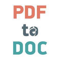 Esta herramienta en línea gratuita perimitirá convertir un documento PDF en formato Microsoft Word DOC, a una calidad mucho mejor que cualquier otro programa de conversión.