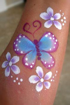 Butterflies/Flowers- Smiley Faces by Jo