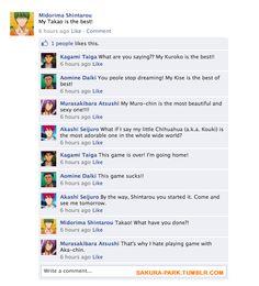 [KnB] Who is the best? Midorima got trolled by Takao =)) Midorima Shintarou, Kise Ryouta, Kagami Taiga, Kuroko Tetsuya, Takao Kazunari, Akakuro, Generation Of Miracles, Shall We Date, Facebook Status