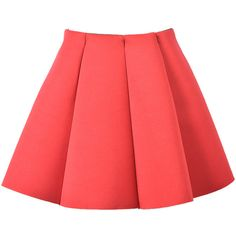 Choies Red Structured Pleats Mini Skirt ($12) ❤ liked on Polyvore featuring skirts, mini skirts, bottoms, saias, faldas, red, short pleated skirt, pleated skirt, red miniskirt and structured skirt