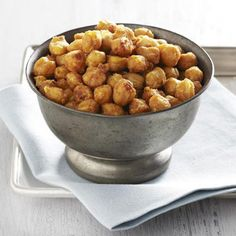 "Chickpeas transform into a delicious pre-dinner snack in this zesty recipe. ""We want to get more legumes in our diet, and this is a neat way to do it,"" says Blake. ""They are rich in soluble fiber, protein, and iron while low in saturated fat."" This heart-friendly food also receives an antioxidant boost from the combined spices and seasonings, says Zied."