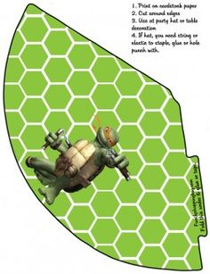 Free Printable Party Hat 4, Ninja Turtles