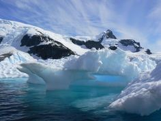 CUVERVILLE ISLAND - One of the fabled blue icebergs.