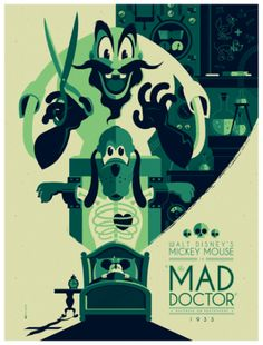 Tom Whalen has recently created these stunning modern vintage Walt Disney poster printing.