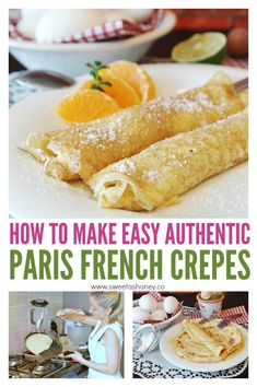 French Crepes Recipe – Best Authentic Sweet crepe – Sweetashoney Authentic French Crepes recipe from Paris. Learn how to make the perfect breakfast or dessert crepes. Easy and delicious with chocolate, nutella or any sweet fillings. French Crepes Recipe Easy, Authentic French Crepes Recipe, Sweet Crepes Recipe, Dessert Crepes, Breakfast Crepes, Crepes And Waffles, Pancakes, Savory Crepes, Cooking Tips