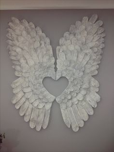 10 x MDF Angels with frilly wing /& hearts cut out