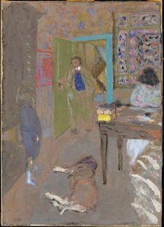 Interior at Saint-Jacut by Édouard Vuillard, Modern and Contemporary Art    Medium: Pastel and gouache on paper